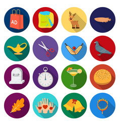 Tourism textiles history and other web icon in vector