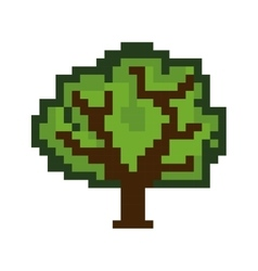 tree pixel figure vector image