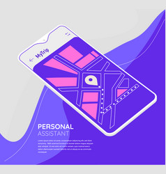 trendy mobile ui mockups for travelling vector image
