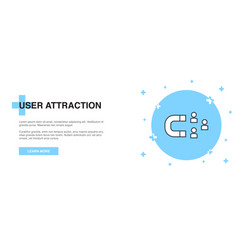 user attraction icon banner outline template vector image