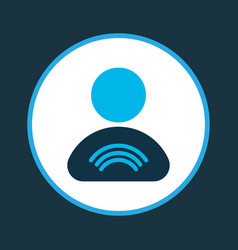 user relationship icon colored symbol premium vector image