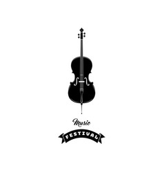 violin icon music symbol music festival text vector image