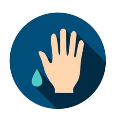 Wash hand circle icon vector