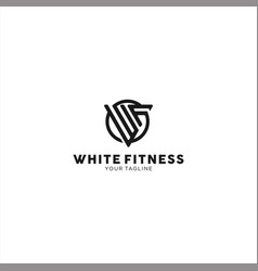 wf letter logo design template for personal vector image