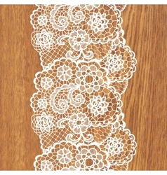 White lace on tree texture vector image