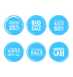 winter sale grunge circle element for your design vector image