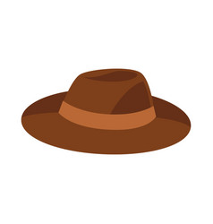 brown hat isolated on white vector image