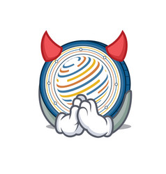 devil factom coin mascot cartoon vector image vector image