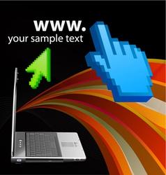 internet design vector image vector image