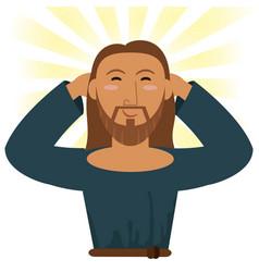 Jesus christ happy religious image vector