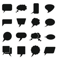 white clouds speak bubbles on white background vector image vector image