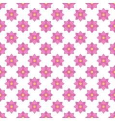 Flat design pink floral seamless pattern vector image