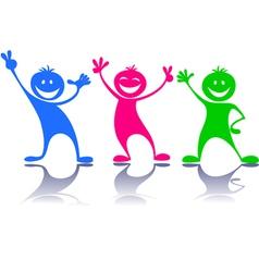 Happy peoplechildren vector image