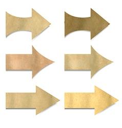 Old Paper Arrows Set vector image vector image