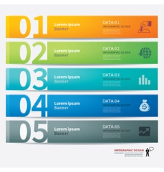 tab number infographic template vector image