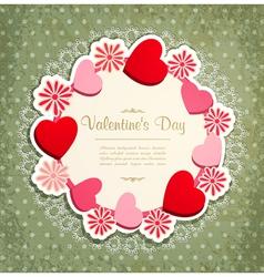 vintage valentines frame vector image vector image