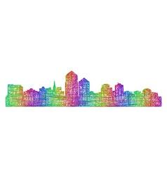 Albuquerque skyline silhouette - line art vector image vector image