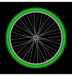 bicycle wheel on white background vector image