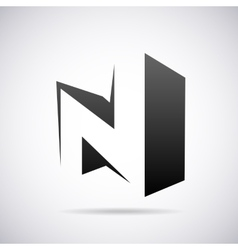 logo for letter N Design template vector image vector image