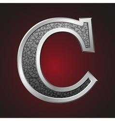 Metal letters c vector image