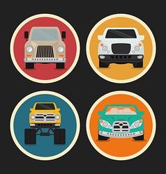 Vehicle design vector image