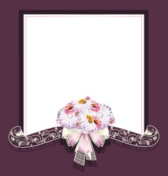 Wedding frame and ribbon vector image