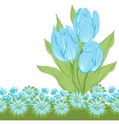 Design of tulips Flower background vector image vector image