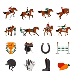 Horse Rising Sport Icons vector image