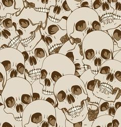 human skulls seamless background vector image