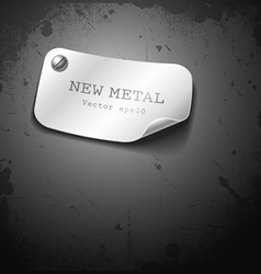 New metal stainless design on grunge background vector image vector image