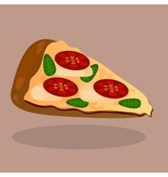 pizza with tomato slices and mozzarella vector image