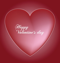 red valentines heart vector image vector image