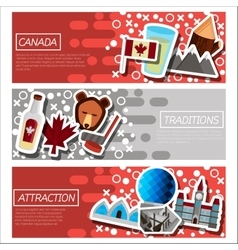 Set of Horizontal Banners about Canada vector image