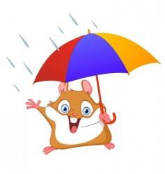 winter hamster vector image