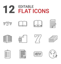 12 text icons vector