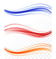 abstract elegant colorful light waves set vector image