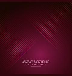 Abstract pink background with diagonal lines vector
