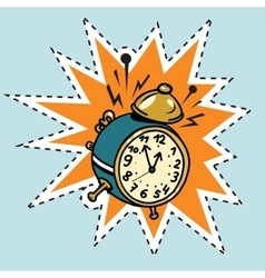Alarm clock rings time vector