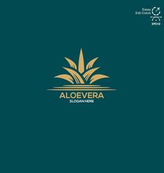 Aloe vera flower logo is simple and elegant vector
