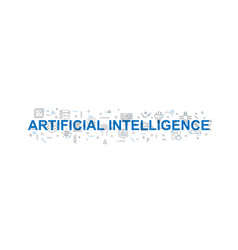 artificial intelligence pattern vector image