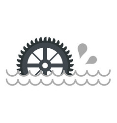big waterwheel icon isolated vector image