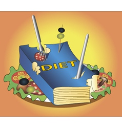 book diet vector image