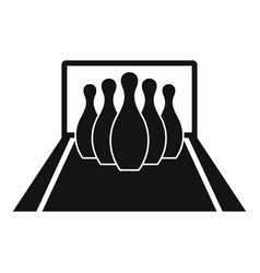 bowling pines icon simple style vector image