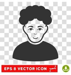 Brunet Man EPS Icon vector