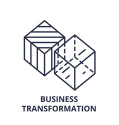 business transformation line icon concept vector image