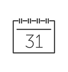 calendar line icon on a white background vector image
