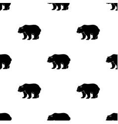 Canadian brown bear canada single icon in black vector