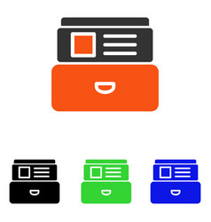 Catalog flat icon vector