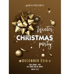 Christmas party design template vector