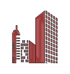 City buildings icon vector